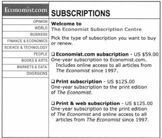 The Economist's pricing: The art of using free in your pricing