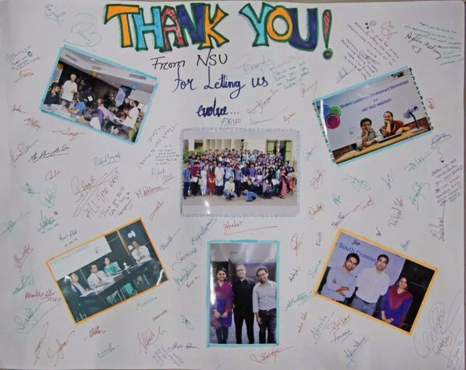 Appreciation from the participants of Don's workshop in NSU