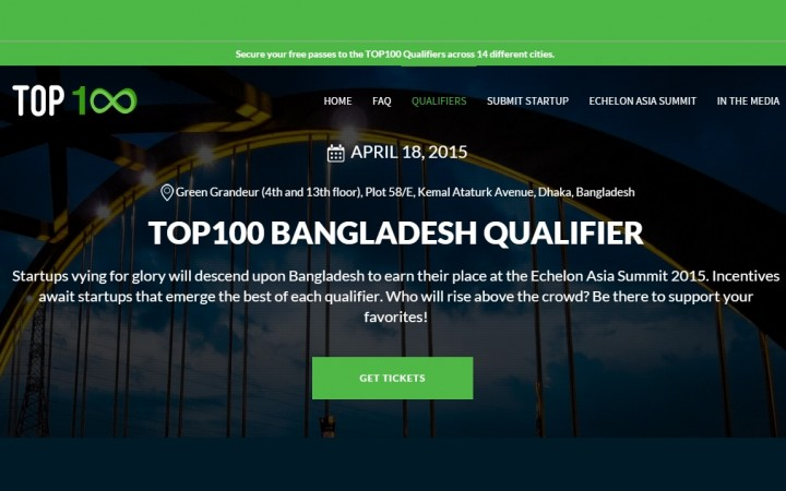 Echelon's Top 100 Startups Bangladesh Qualifier Round To Be Held On April 18
