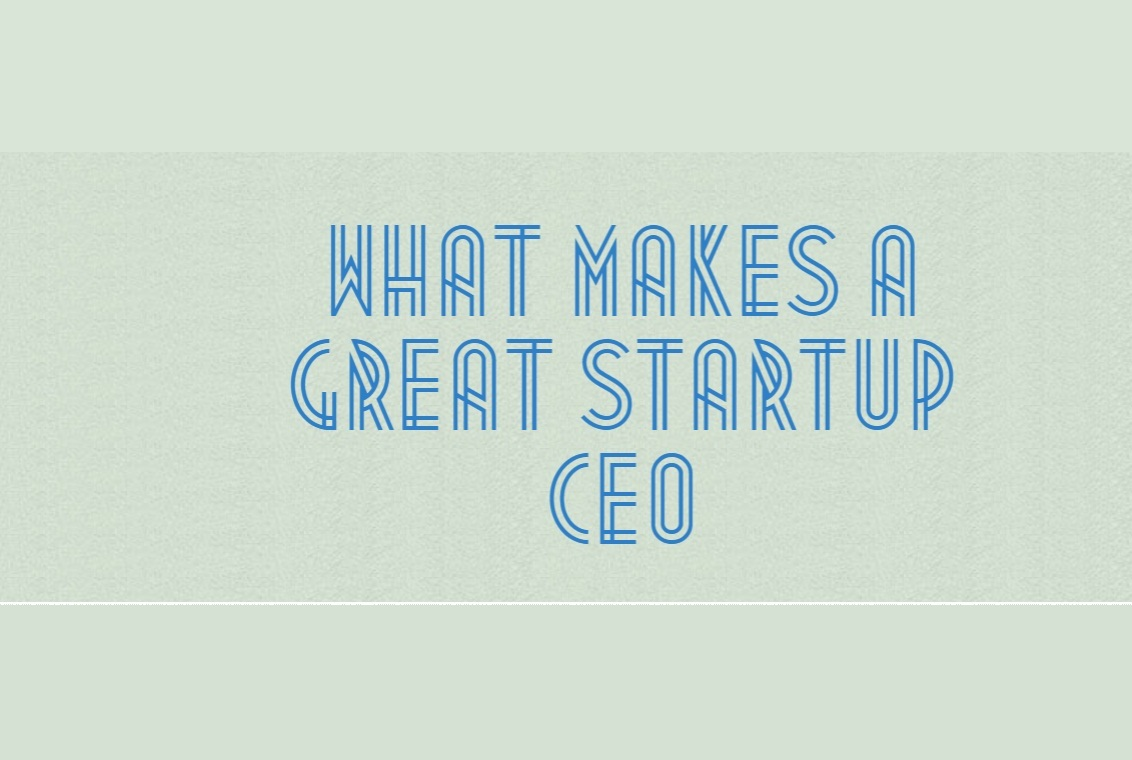 What makes a great Startup CEO Infographic cover