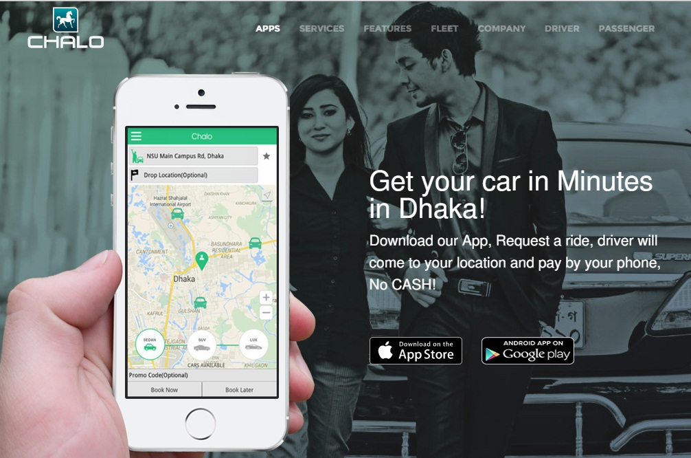 On Demand Car Service Providing [Ride Hailing] Startup Chalo Launches In Dhaka