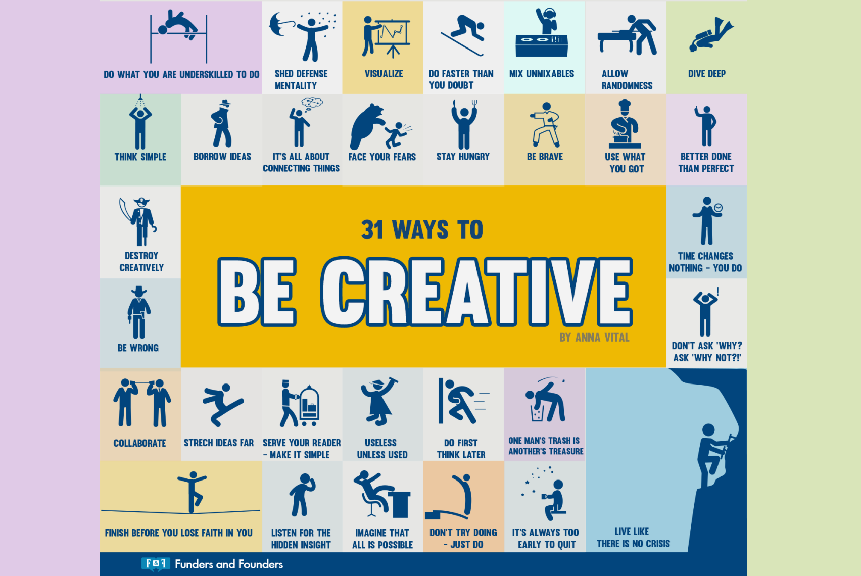 31 Ways To Be Creative [Infographic]