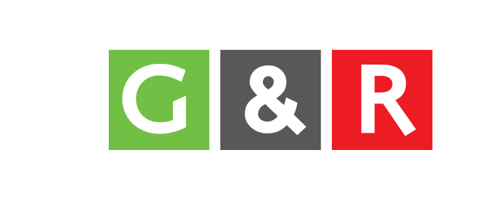 The G&R logo, simple and easy. It represents the colors of Bangladesh, as does the name Green & Red