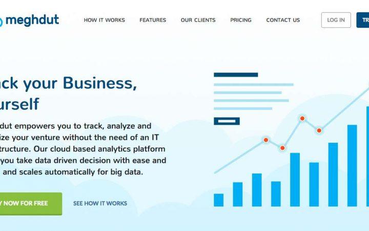 Meghdut Analytics_website screenshot