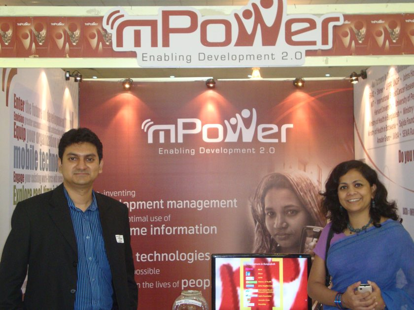 Mridul Chowdhury and Tahmina Khanam (from left to right)
