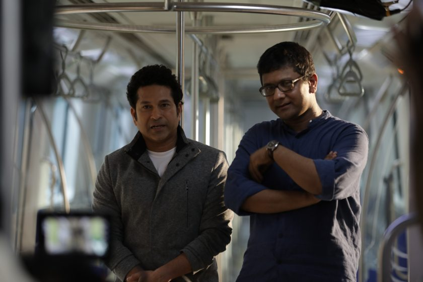 Piplu R Khan with Sachin Tendulkar | Photo by Applebox