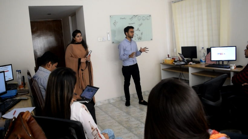 Shadman Sakib giving a briefing to when Shadmart expanded the team