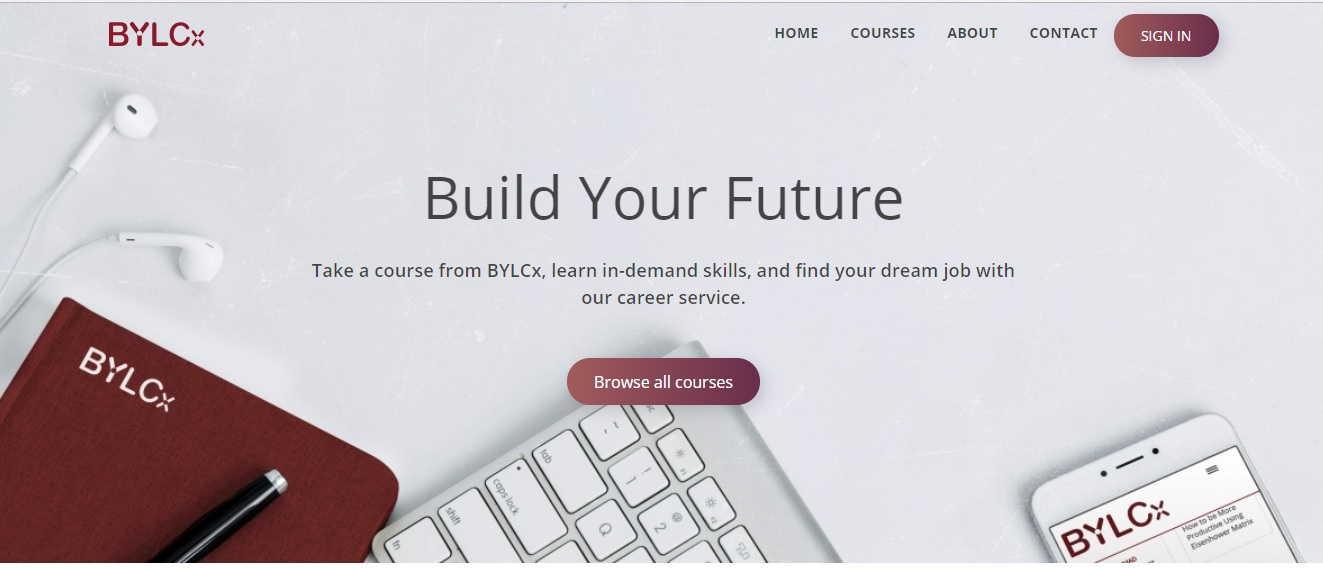 BYLCx web screenshot on Sept 06, 2018